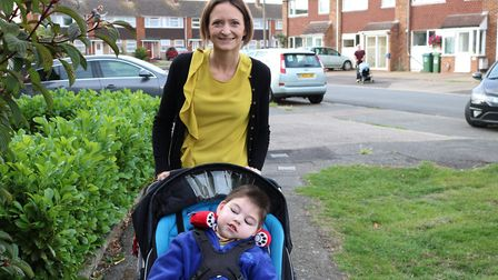 Jack and Francesca on the day of filming.