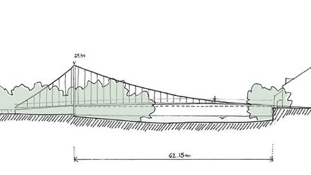 The design for a new bridge in St Neots that was backed by the county council. Picture: CONTRIBUTED