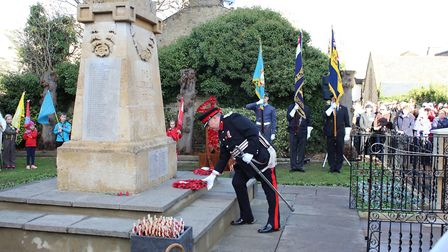 Wreath Laying at St Neots cemetery
