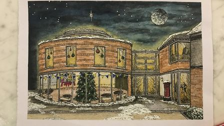 Georgia Sweeny's previous Christmas card design, which won a competition at St Albans High School fo