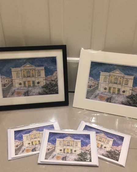Georgia Sweeny's Christmas card designs, which are being sold in the St Albans Museum + Gallery. Pic