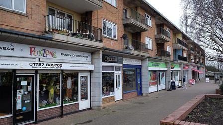 The parade of shops at High Oaks, New Greens. Picture: Danny Loo