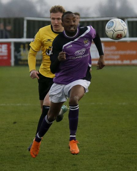 Ralston Gabriel breaks through the Gloucester defensive line. Picture: LEIGH PAGE