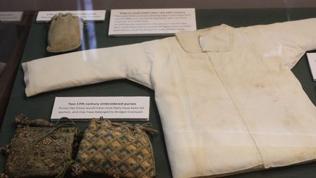 Some of the items that were donated by distant relatives of Oliver Cromwell.