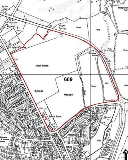 A map of the development site proposed by Rothamsted Research and Lawes Agricultural Trust. Picture: