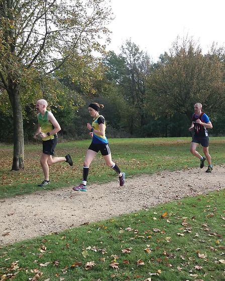 St Albans Striders' Jen Conway at the Cross Country Sunday League event in Cheshunt.