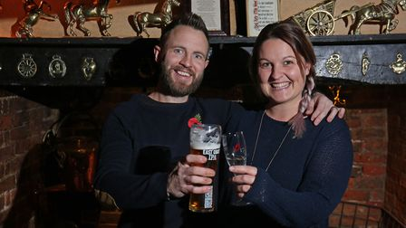 The Woodman owners Stuart and Jenna Johnson. Picture: DANNY LOO