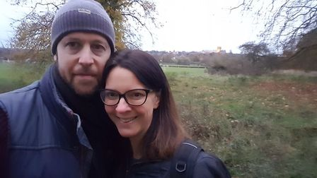 Matt Parkin and his wife, Rebecca. Picture: Submitted by The Hospice of St Francis