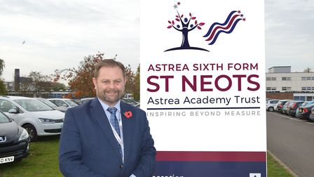 Mark Taylor is the new head of sixth form a the Astrea Trust in St Neots