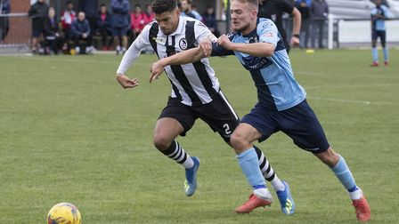 Ben Worman on the attack for St Neots Town at Coalville Town. Picture: CLAIRE HOWES