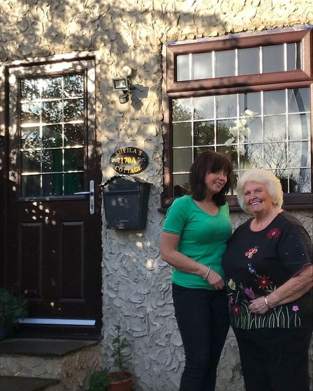 Lisa and her mum Sheila outside their granny flat. Picture: Lisa Salmon/PA