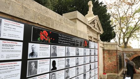 The Men of the Royston War Memorial display. Picture: David Hatton