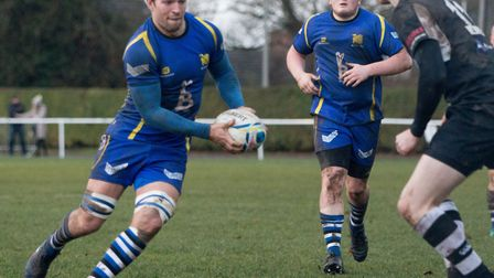 St Ives captain Ollie Bartlett during their win at Stewart & Lloyds. Picture: PAUL COX