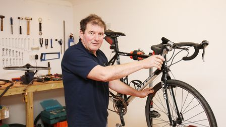 Owner Leigh Stephenson at the opening of The Electric Bike Volt in Wheathampstead. Picture: DANNY L