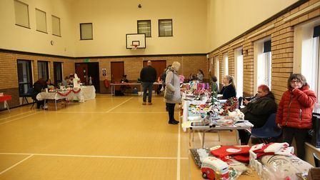 Visitors to the Royston Rethink mental health Christmas fete. Picture: DANNY LOO