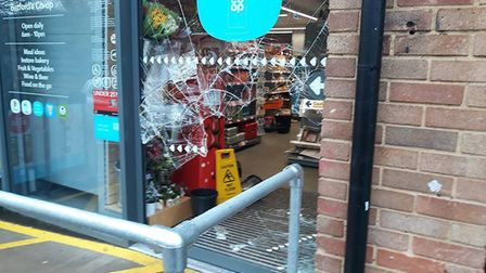 The Batford Co-Op on Lower Luton Road was broken into on Saturday. Picture: Paul Freeman.