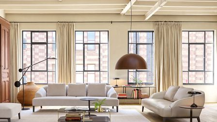 Selling the lifestyle: These Ligne Roset Sintra sofas and Luna Rossa pendant light would help style