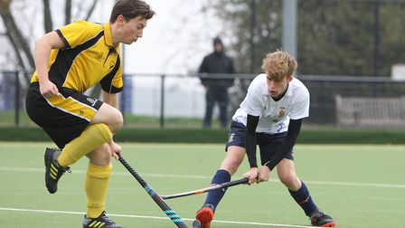Harry Kneale had Harpenden's only real shot on target. Picture: Karyn Haddon