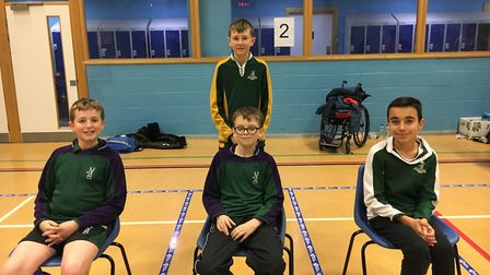 The Hinchingbrooke team which finished fourth in the Pan Disability category.