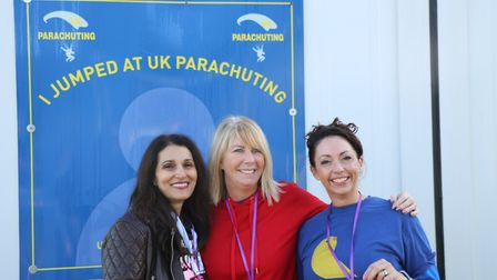Kelly Braich (left) at UK Parachuting. Picture: Submitted by Kelly Braich