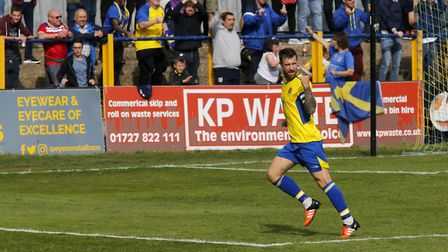David Noble has been named St Albans City's player of the month for November. Picture: LEIGH PAGE