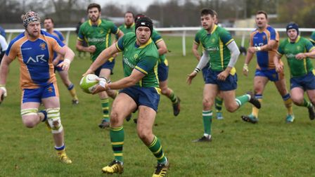 Wayne Bradley was one of the Huntingdon try-scorers in their home defeat against Market Bosworth. Pi