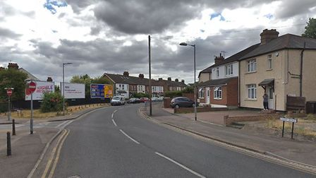 Camp Road in St Albans, where the Mercedes window was smashed. Picture: Google.