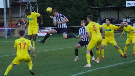 Jake Newman scored his first St Ives Town goal and was later sent off in their draw with Banbury. Pi