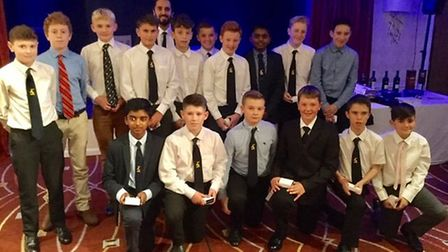 The Under 12 Boys were named as Team of the Year at the Huntingdonshire County Cricket Board annual