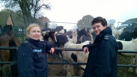 Left to right: DC Amanda Matthews and PC Jos Bartlett; both of whom attended the Horse Health Day in