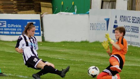 Tierney Coulson hit four goals for St Ives Town Ladies. Picture: LOUISE THOMPSON