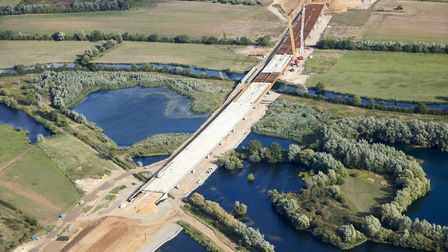 Work on the upgrade of the A14 has reached the half way point