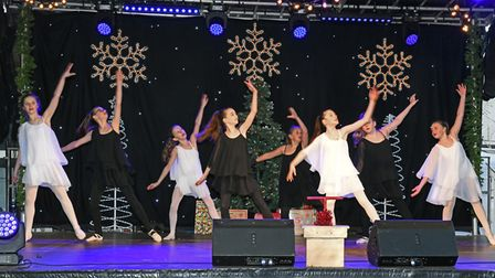The Christmas lights are switched on in St Neots. Picture: ARCHANT