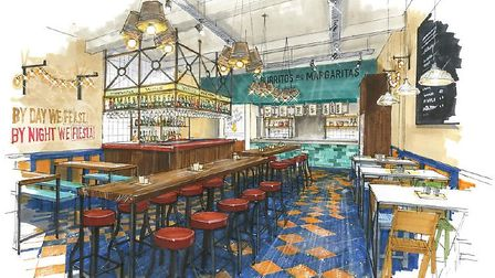 Design for the O2 branch of Mexican restaurant Benito's Hat, which is also coming to St Albans next