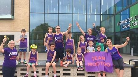 A group of 11 children raised £1,165 by completing a Mini Triathlon. Picture: Anna-Ruby Yates