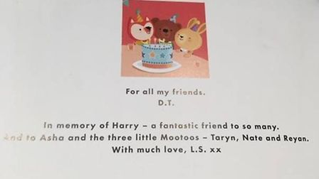 My Best Friends by Leilani Sparrow was dedicated to Harry-Krish. Picture: Anna-Ruby Yates