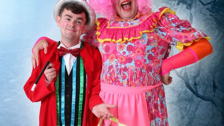 Merlin (Tom Brace) and Mme Fromage (Sarah Cook) from Beauty and the Beast at the Rhodes Arts Complex