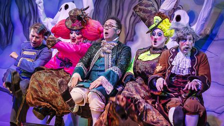 We'll have to do it again then! Buttons, the Ugly sisters, Dandini and Baron Hardup in pantomime Cin