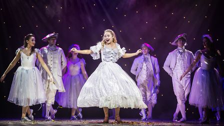 Cinderella (Jemma Carlisle) shall go to the ball in pantomime Cinderella at The Alban Arena in St Al