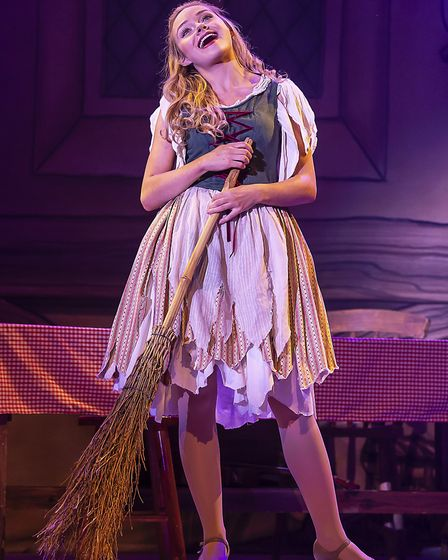 Jemma Carlisle as Cinderella in pantomime Cinderella at The Alban Arena in St Albans. Picture: Pamel