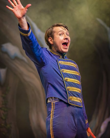 Buttons (Ben Faulks) in pantomime Cinderella at The Alban Arena in St Albans. Picture: Pamela Raith