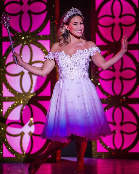 Rachel Stevens as the Fairy Godmother in pantomime Cinderella at The Alban Arena in St Albans. Pictu