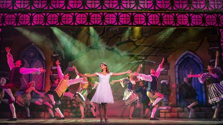 Rachel Stevens' opening number as the Fairy Godmother in panto Cinderella at The Alban Arena in St A