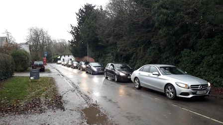 Traffic problems caused by the level crossing near Shepreth railway station. Picture: Rob Mungovan