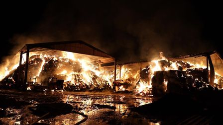 The scene of the fire in Needingworth. Picture: CFRS