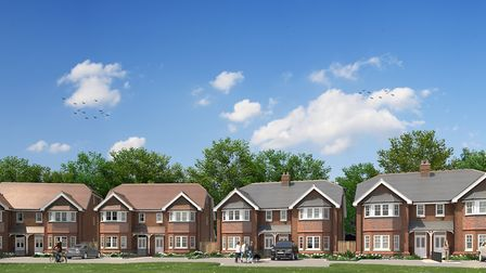 CGI of how Hollybush Mews in Harpenden will look on completion. Picture: Strutt & Parker