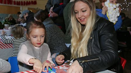 Arts and craft activities in winter wonderland at Ashwell at Christmas. Picture: DANNY LOO