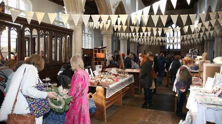 The Christmas fayre in St Mary's Church, Ashwell. Picture: DANNY LOO