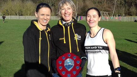 The successful BRJ ladies team in the Cambs Road League are, from the left, Shelley Duffy, Alison Or