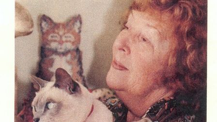 Dena Bryant-Duncan with her cat, Willow. Picture: Mark Bryant